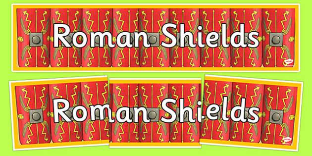 Roman Shields Display Banner - romans, display banner, banner