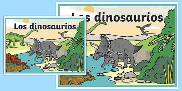 Cartel Los dinosaurios