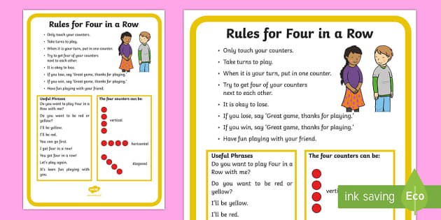 Four in a Row Rules and Social Scripts