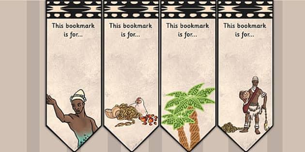 Kingdom of Benin: Yoruba Creation Story Editable Bookmarks