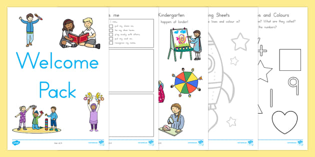 Kindergarten Welcome Pack - kindergarten, welcome, new term, term