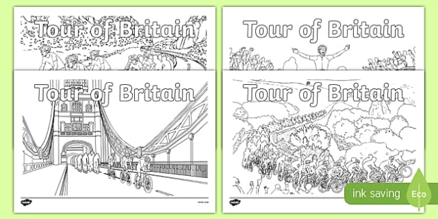 Tour of Britain Colouring Pages