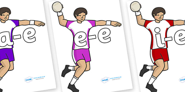 Modifying E Letters on Handball - Modifying E, letters, modify, Phase 5, Phase five, alternative spellings for phonemes, DfES letters and Sounds