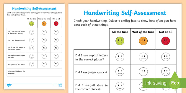 Writing Self Assessment Activity Sheet - Writing Self-Assessment,Irish