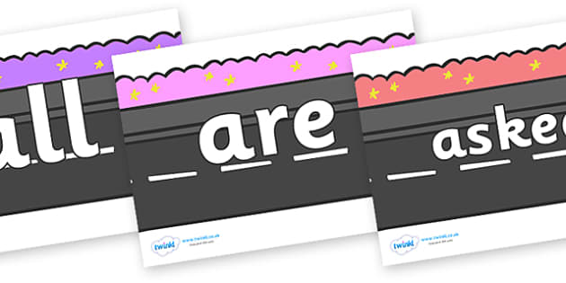 Tricky Words on Roads - Tricky words, DfES Letters and Sounds, Letters and sounds, display, words
