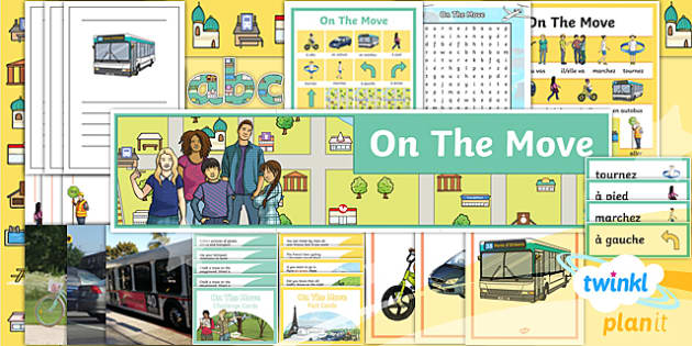 PlanIt - French Year 4 - On the Move Additional Resources - french, languages, transport, direction, grammar