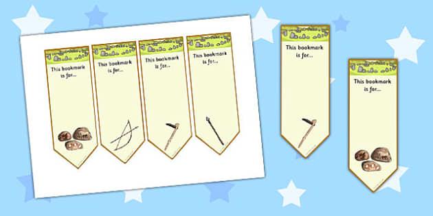 Stone Age Bookmarks - stone age, bookmarks, book, marks, stone