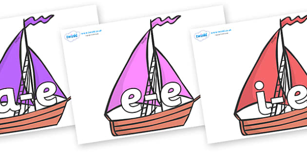 Modifying E Letters on Sailing Boats to Support Teaching on Where the Wild Things Are - Modifying E, letters, modify, Phase 5, Phase five, alternative spellings for phonemes, DfES letters and Sounds