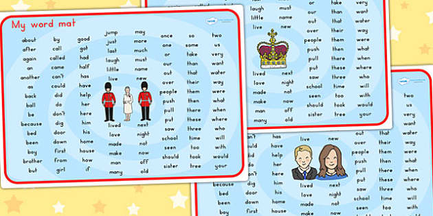 Royal Family KS1 Word Mat - royality, queen elizabeth, visual aid
