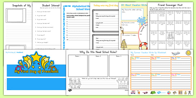 USA First Day Back Activity Pack