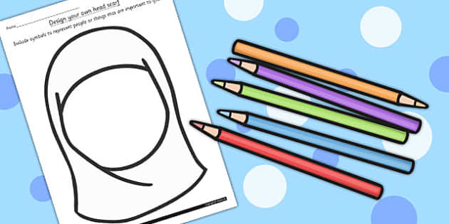 Eid KS1 Design Your  Own Head Scarf Template - Eid, Head, Scarf