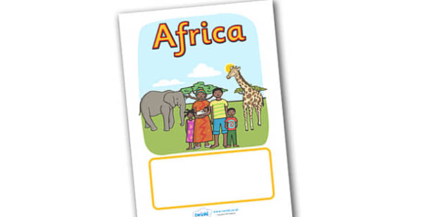 Editable Africa Topic Book Cover - editable africa topic book cover, book cover, cover, africa, editable, topic, africa themed, african, safari, animal