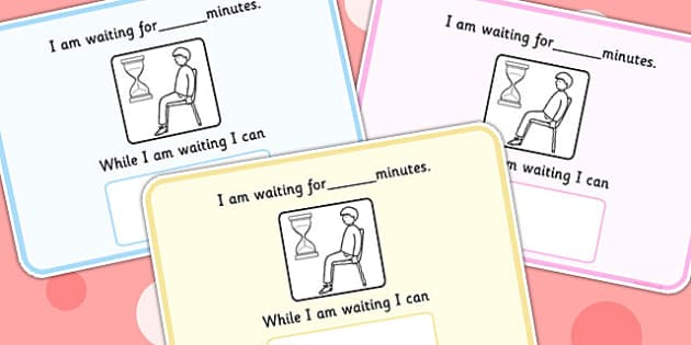 I Am Waiting For... Minutes Visual Support Cards - learning support