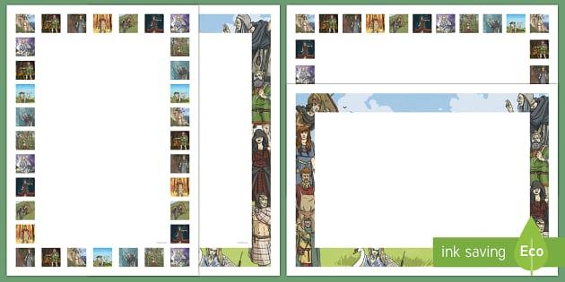 Irish Celtic Gods and Goddesses Page Border Pack - Requests - ROI, the celts, irish celtic gods, celtic goddesses. sese, history,Irish