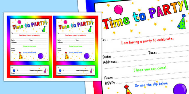 Generic Party Invitations - generic, party, generic party, celebrate, invitations
