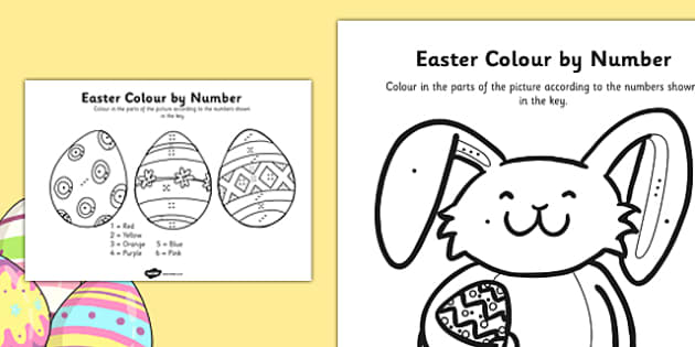 Easter Colour By Number Dots - colour, number dots, number, dots, easter