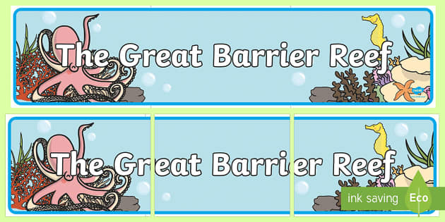 Great Barrier Reef Editable Banner for Publisher - australia