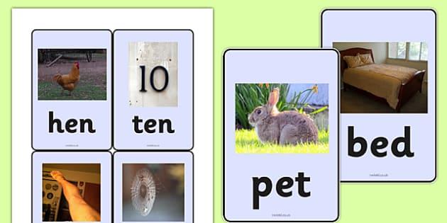 CVC Photo Word Cards e - cvc,  word cards, photo word cards, word flash cards, flash cards, words, key words, keywords, key word cards, photo cards, cards