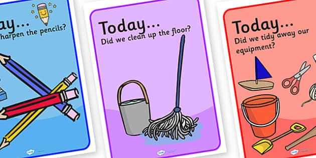 Tidy Up Classroom Posters - Tidy Up, Classroom Posters, Display Posters, Tidy Up Display Posters, Tidy, Posters, Display, Tidy Classroom