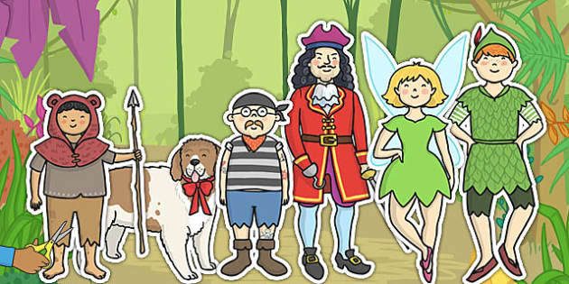 Peter Pan Story Cut Outs - display cut-outs, images, pictures