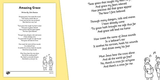 Amazing Grace Hymn Lyric Sheet - amazing grace, hymn, lyric, sheet, amazing, grace