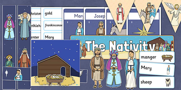 The Nativity Display Pack - nativity, christmas, display pack, pack, display