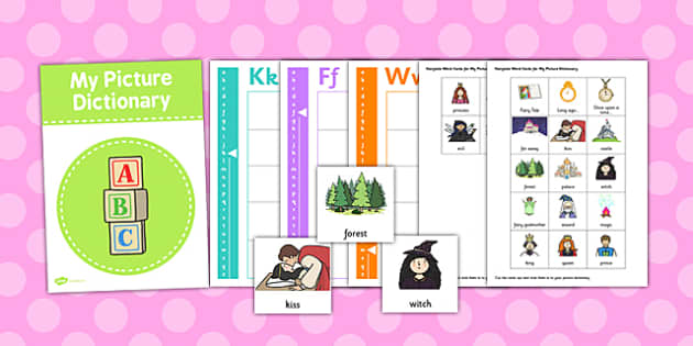 Picture Dictionary Fairytale Word Cards - dictionary, fairytale