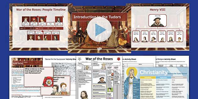 Introduction to the Tudors Pack - history, KS3, Tudors, Henry VIII, Elizabeth I, Edward VI, Mary I, Henry VII, Change, Continuity, religion, politics, society, culture, economy, military