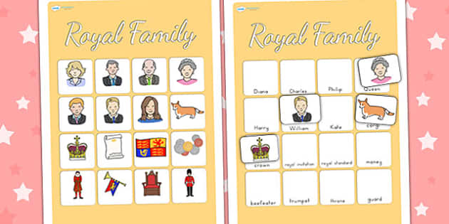 Royal Family Vocabulary Poster - royality, queen elizabeth, vocab