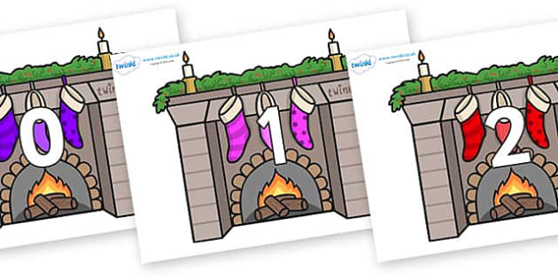 Numbers 0-50 on Fireplaces - 0-50, foundation stage numeracy, Number recognition, Number flashcards, counting, number frieze, Display numbers, number posters