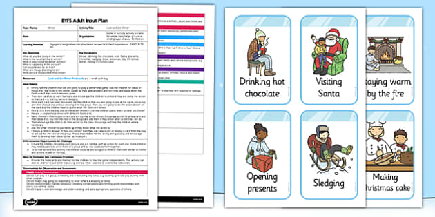 Look and Act Winter EYFS Adult Input Plan and Resource Pack - adult led