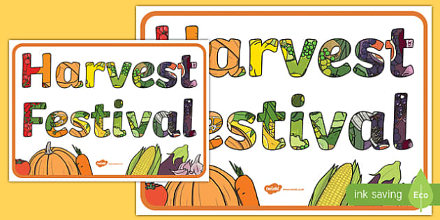 Harvest Festival Large Display Poster