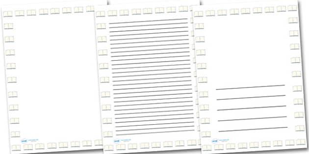 Lined Paper Portrait Page Borders Portrait Page Borders Page – Lined Border Paper