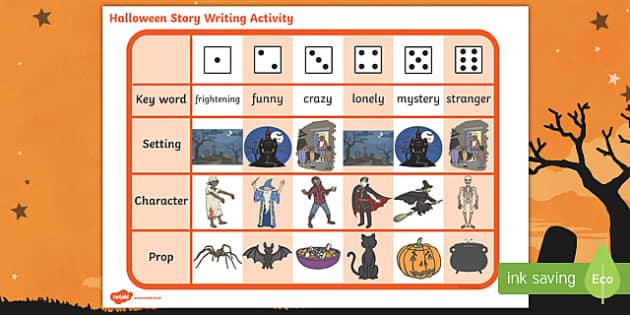 Halloween Story Writing Ideas Activity