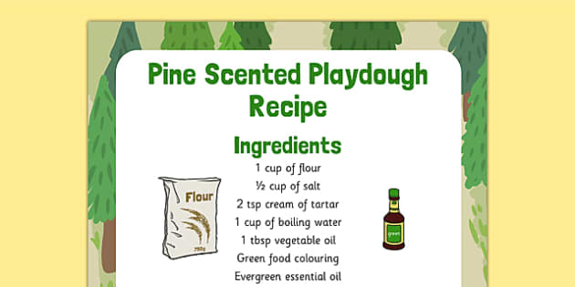 Pine Scented Playdough Recipe - pin scented, playdough, recipe, pine
