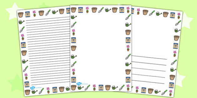 Gardening Page Borders - gardening, page borders, borders, page