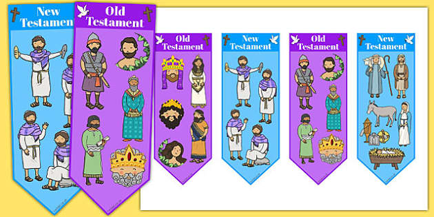 Old Testament and New Testament Bookmarks - old testament, new testament, bookmarks