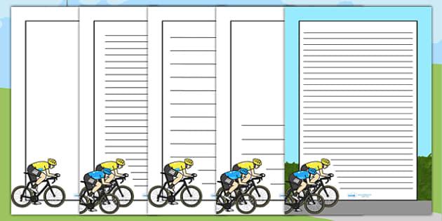 Tour de France Themed Page Borders - le tour, bicycle, sports