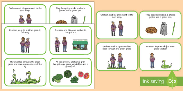 Initial gr Word Story Cards - Cluster reduction, phonology, articulation, dyspraxia, sentence level, speech sounds