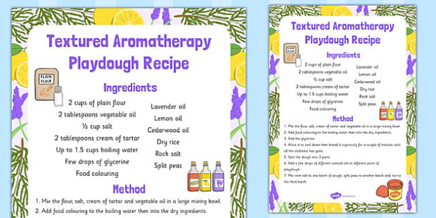 Textured Aromatherapy Playdough Recipe - playdough, recipe, eyfs
