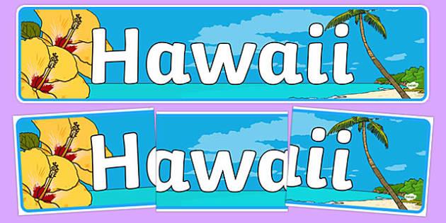 Hawaii Display Banner