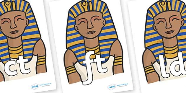 Final Letter Blends on Pharaoh - Final Letters, final letter, letter blend, letter blends, consonant, consonants, digraph, trigraph, literacy, alphabet, letters, foundation stage literacy