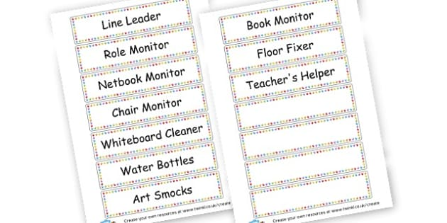 Classroom Jobs - Classroom Signs & Label Primary Resources, labels, posters, rules