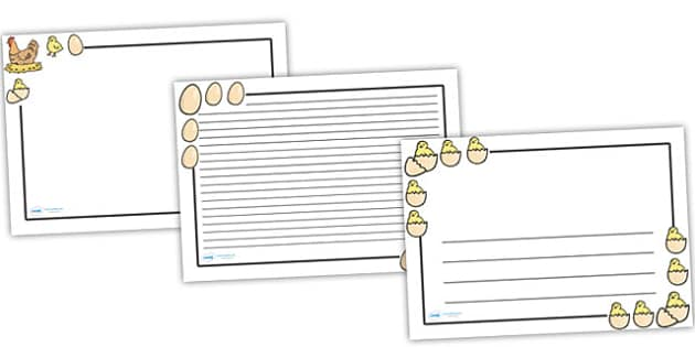 Hen Life Cycle Page Borders (Landscape) - page border, border, frame, writing frame, hen, hen lifecycle, hen writing frames, hen lifecycle writing frames, writing template, writing aid, writing, A4 page, page edge, writing activities, lined page, lin