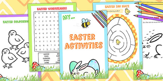 Easter Activity Booklet - easter, activity book, easter activity