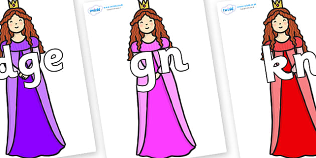 Silent Letters on Sleeping Beauty - Silent Letters, silent letter, letter blend, consonant, consonants, digraph, trigraph, A-Z letters, literacy, alphabet, letters, alternative sounds