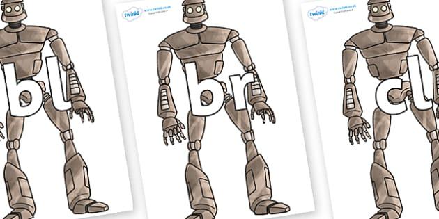 Initial Letter Blends on The Iron Man - Initial Letters, initial letter, letter blend, letter blends, consonant, consonants, digraph, trigraph, literacy, alphabet, letters, foundation stage literacy
