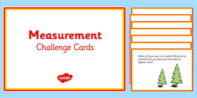 Challenge Cards Measurement Year 1 - challenge cards, measurement, year 1, challenge, cards