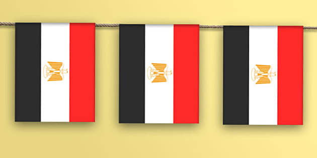 Egypt Flag Bunting - flag, world, country, countries, Africa, display, Olympics, Rio, 2016, celebrate, event