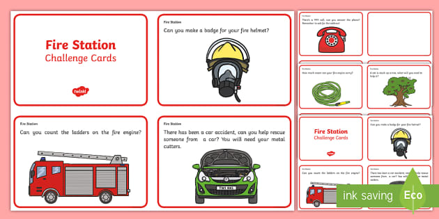 Challenge Cards Fire Station - challenge, cards, fire station